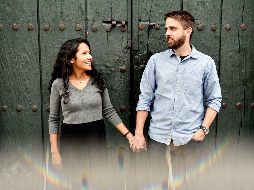 The engagement session was done in Bogotá, Colombia.